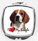 I Love My Beagle Compact Mirror