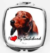 I Love My Dachshund Compact Mirror