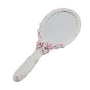 Victorian Pink Rose Hand Mirror Elegant
