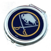 Buffalo Sabres Ladies Compact Mirror w/ Floral Design