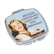 Because Chocolate Can't Get You Pregnant Compact Mirror