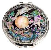 Silver J Hand mirror, compact mirror, handmade mother of pearl gifts, sipjangseng