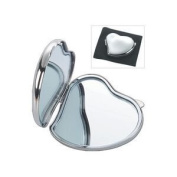 Natico Originals 60-712S Compact Heart Shape Mirror Silver