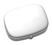 Aeropen International P-119S Chrome Solid Cover with 3 Compartment Pill Box and Mirror