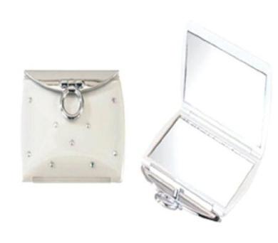 Brandon 3X Crystalized Compact Mirror - Eggshell (#M751)