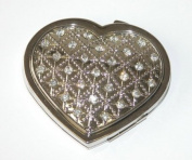 HEART COMPACT W/CRYSTALS, NP 2 3/8