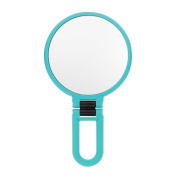 Danielle Soft Touch Hand Held or Folded Mirror Blue