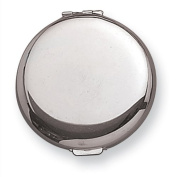 Brass with Silver-Tone Compact Mirror