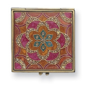 Gold-tone Enamelled Compact Mirror