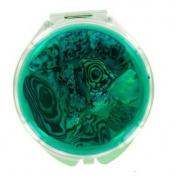 Compact Mirror - Abalone Round Green