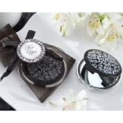 """""""Reflections"""" Elegant Black-and-White Mirror Compact - Set of 24"""