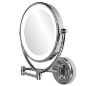 Ovente MLT45C 1x-10x Dimmable Dual Sided Lighted Round Mirror