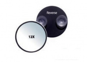 Rucci, Suction Cup Mirror, Black, 12X, 12.7cm Diameter