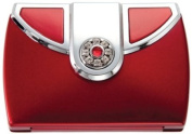 Brandon Femme 5X and Normal View. Rhinestone Compact Mirror Ruby, M809, 70ml