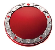 Brandon Femme 5X and Normal View. Rhinestone Compact Mirror Ruby, M799, 70ml