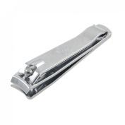 8.1cm Silver Tone Metal Built in File Manicure Tool Nail Clipper