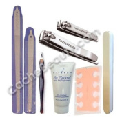 Manicure/pedicure Combo Kit With Nail Clippers, Cuticle Trimmer, 15.2cm & 20.3cm File, Toe Separator, Buffer