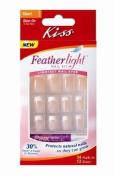 Kiss Feathlight Nail Kit, Short Length, Glue-On Nails, 52304