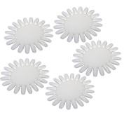 5 Pcs Round Nail Art Acrylic False Fake Tips Display Practise Wheel Board Polish Tool White