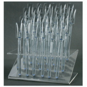 32 UV Gel Acrylic Tips Samples Pop Sticks Clear Nail Art Display Stand Rack Practise Tool