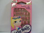 Little Fing'rs Girlie Nails, Pink 24 ea