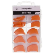 Amazing Shine 100 Coloured Nail Tips - Classic Orange