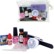 Professional Nail Acrylic Kit-Starter Nail kit with No burn primer/Acrylic Liquid/Powder/Brush and Instruction