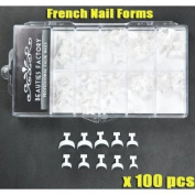 French Nail Tips Edge Forms x 100pcs CODE