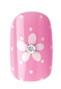 Party Nails Pre-glued 2x Sets of 12 Nails Each Pack Total of 24 Nails in Colour Pink Polka Dot Sparkle #88539 + A-viva Eco Nail File