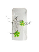 Clear/Green Floral Pre-designed Acrylic/UV Gel Artificial/False French Nail Tips