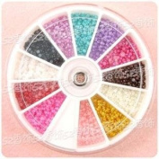 1680 X 2.0mm Nail ART TIP Half Round Baby Pearl Decoration Wheel