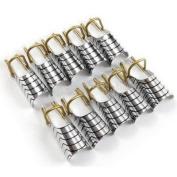 HongNuo 10pcs nail art silver foil reusable acrylic UV gel forms shape french false Silver