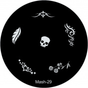 MASH Nail Art Stamp Stamping Image Plate No 29
