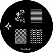 MASH Nail Art Stamp Stamping Image Plate No 46