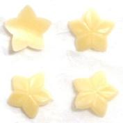 Zink Colour Nail Art Cream Curve Star 4Pc Embellishment