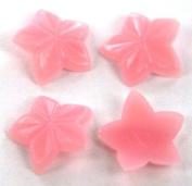 Zink Colour Nail Art Pink Curve Star 4Pc Embellishment