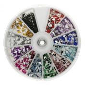Premium MASH 1200 Piece 12 Colour Nail Art Nailart 3D Design Tear Rain Drop Rhinestones