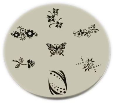 Konad Stamping Nail Art Image Plate - M25