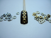 Nail Art 250 Pieces Gold & Silver 5mm CIRCLE Metal Studs for Nails, Cellphones
