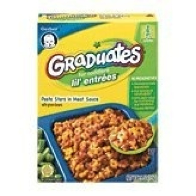 Gerber Graduates Lil' Entrees Pasta Stars in Meat Sauce with Green Beans