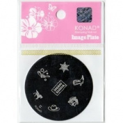 Konad Stamping Nail Art Image Plate S5