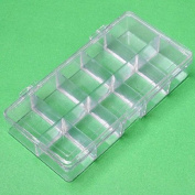 1p Empty Storage Box Case Container Compartment for Nail Art Tips Good Quality