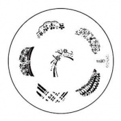 Konad Stamping Nail Art Image Plate - M80