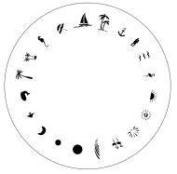 Design Wheel - Tropical Nail Master Stencil Shield