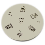 Konad Stamping Nail Art Image Plate - M10 [Misc.]