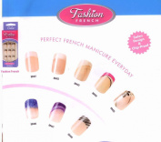 Cala Professional Fashion Nails in Natural with French Tips # 88401 + FREE Aviva nail file
