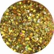 erikonail Hologram Round 1mm Holo Gold Sparkle ERI-69