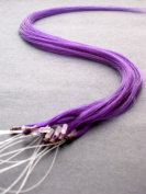 45.7cm Purple Micro Loop Ring Human Hair Extensions 10 Strands With Bonus