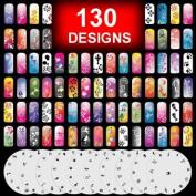 10 Airbrush Nail Stencil Sheet Art Design Set Pages 11-20