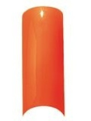 Cala Professional Glitter Tips in Neon Orange # 87-560 + Free A-viva Eco Nail File